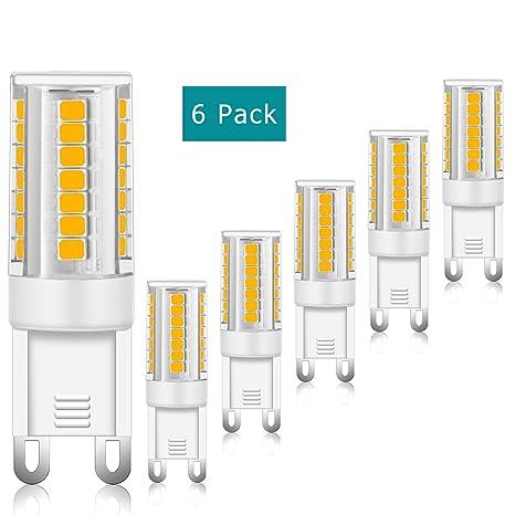 Bombillas LED G9, 3W equivalentes a Lámparas halógenas de 35W, Blanco cálido 3000k,
