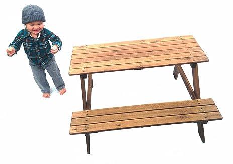 Kids Picnic Bench Mini Wooden Picnic Table