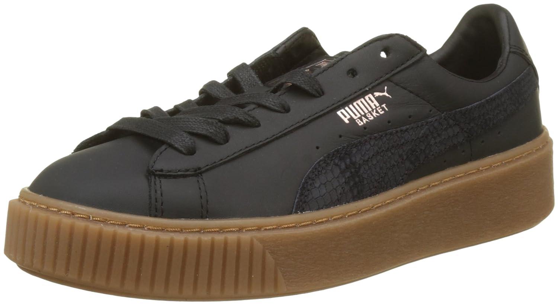 Puma Basket Platform Euphoria Gum, Zapatillas para Mujer 38 EU Negro (Puma Black-rose Gold)