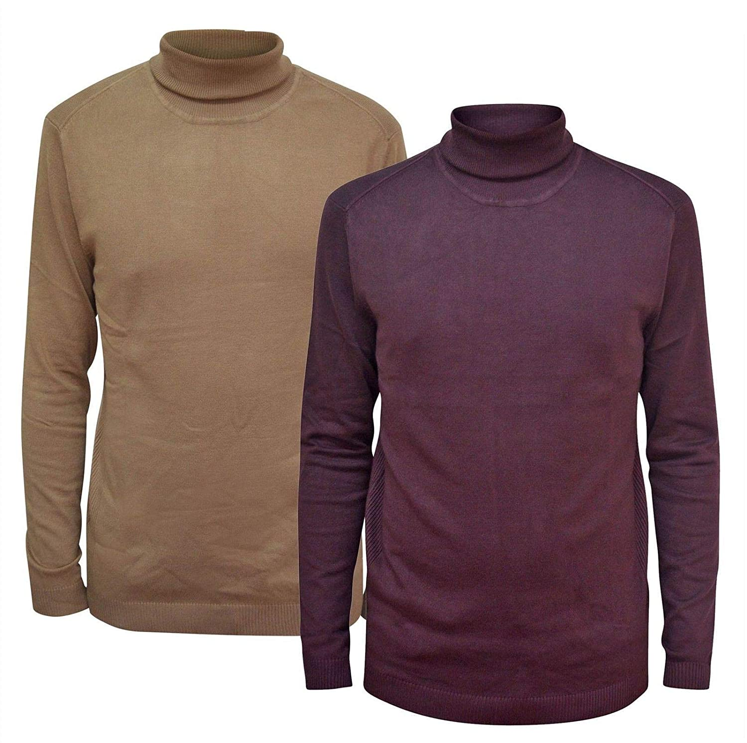 cf27a87c9b0e49 Mens Rib Trim Roll Neck Jumper: Amazon.co.uk: Clothing