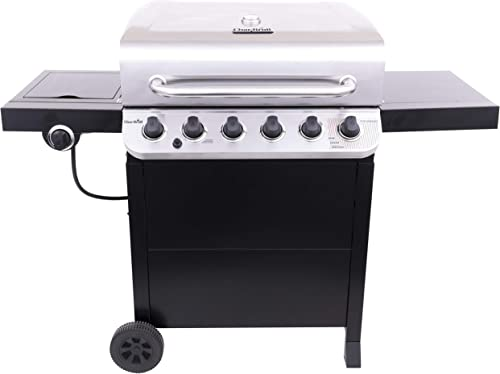 Char-Broil 463274419 Performance 6-Burner Cart Style Gas Grill, Stainless Black