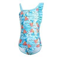 iDrawl Girls Unicorn One Piece Swimsuit Kids Cute Colorful Swimming Costume Bathing Suit Age 6-14 Years