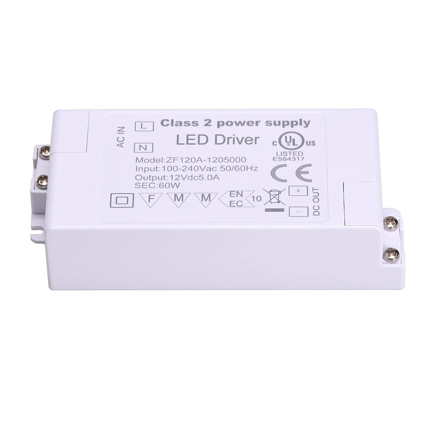 Led Driver 60w 12v Power Supply Adapter Ul Listed 100 240v Ac Innovative Circuit Ict120126a Comm Series 120vac 12vdc 6 Amp To Dc Transformer 5a Low Voltage Strip Light