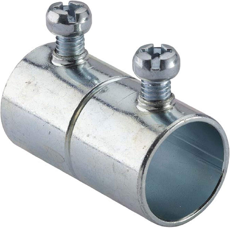 1//2 in Set-Screw Coupling 5 per pack Halex 26280 Electrical Metallic Tube EMT