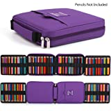 qianshan 100 120 132 144 150 colored Pencils universal Pencil Bag pen case School Stationery PencilCase Drawing Painting Storage Pouch pencil box purple