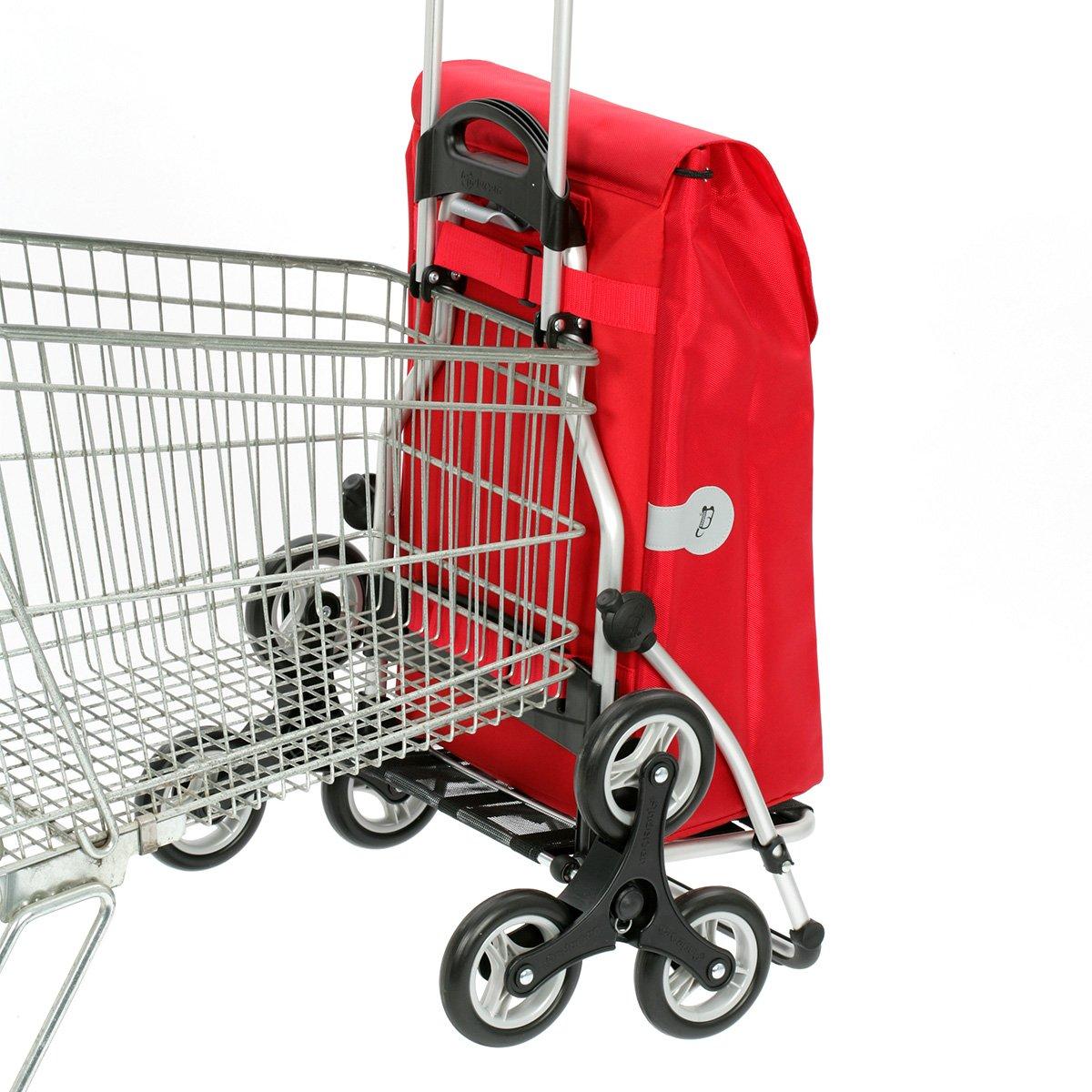 cadre aluminium et couronne /à 3 roues volume 44L Andersen Chariot de courses Royal avec sacoche Hera rouge