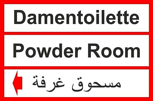 Asilo carteles - cartel de 6034 # de mujer Toilette ...