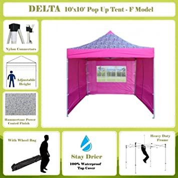 10u0027x10u0027 Pop up 4 Wall Canopy Party Tent Gazebo Ez Pink Zebra -  sc 1 st  Amazon.com & Amazon.com: 10u0027x10u0027 Pop up 4 Wall Canopy Party Tent Gazebo Ez Pink ...