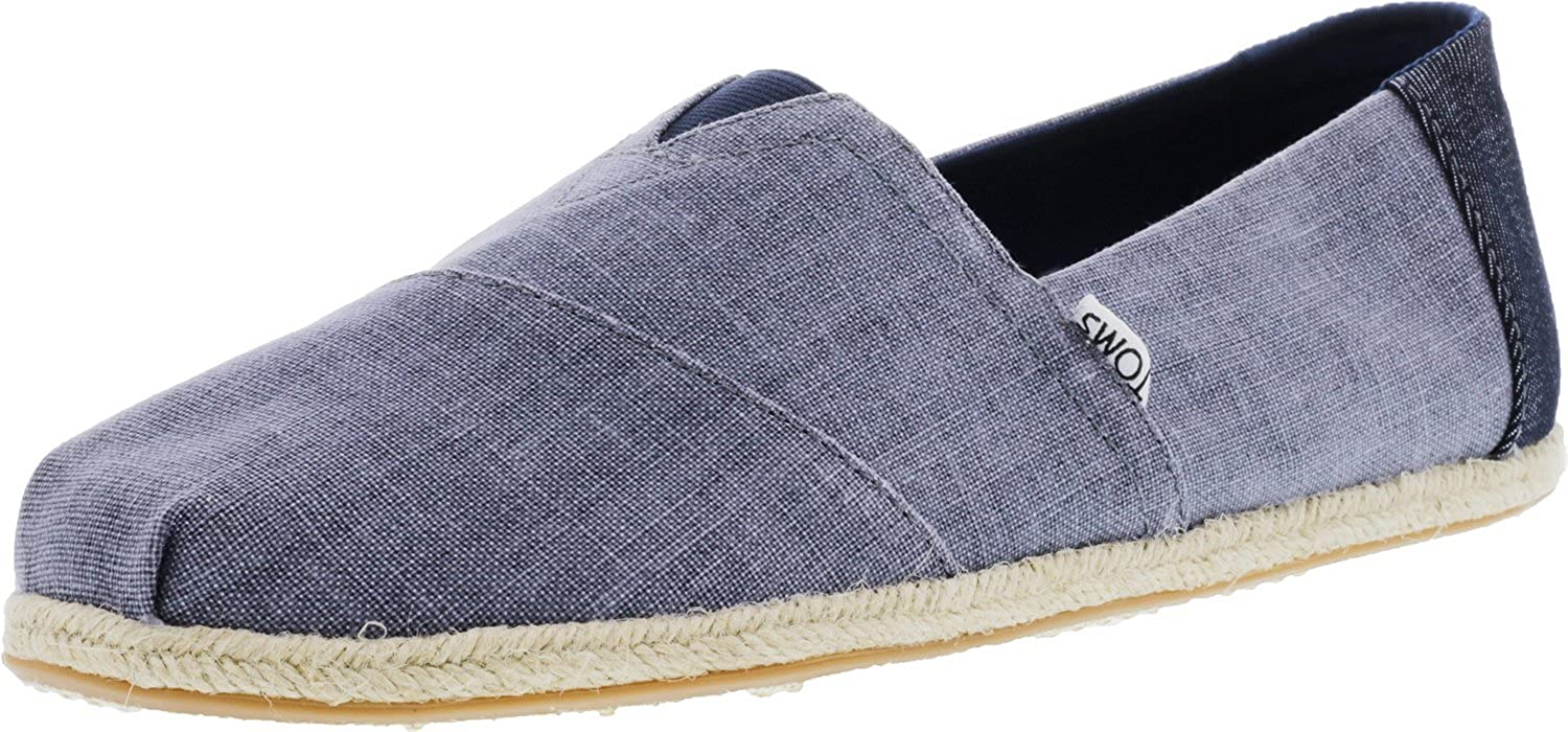 TOMS Classics Deep Ocean Coated Linen Rope Sole