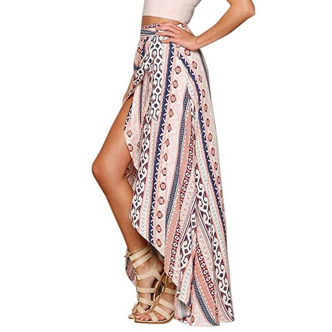 ¡Las faldas largas de la playa de la gasa del verano floral maxi de Boho