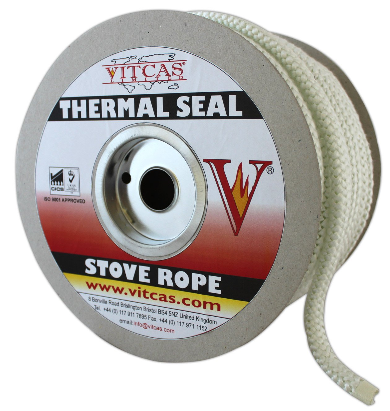 Vitcas Stove Fire Rope - 3mm Diameter Heat Resistant Thermal Seal-PACK