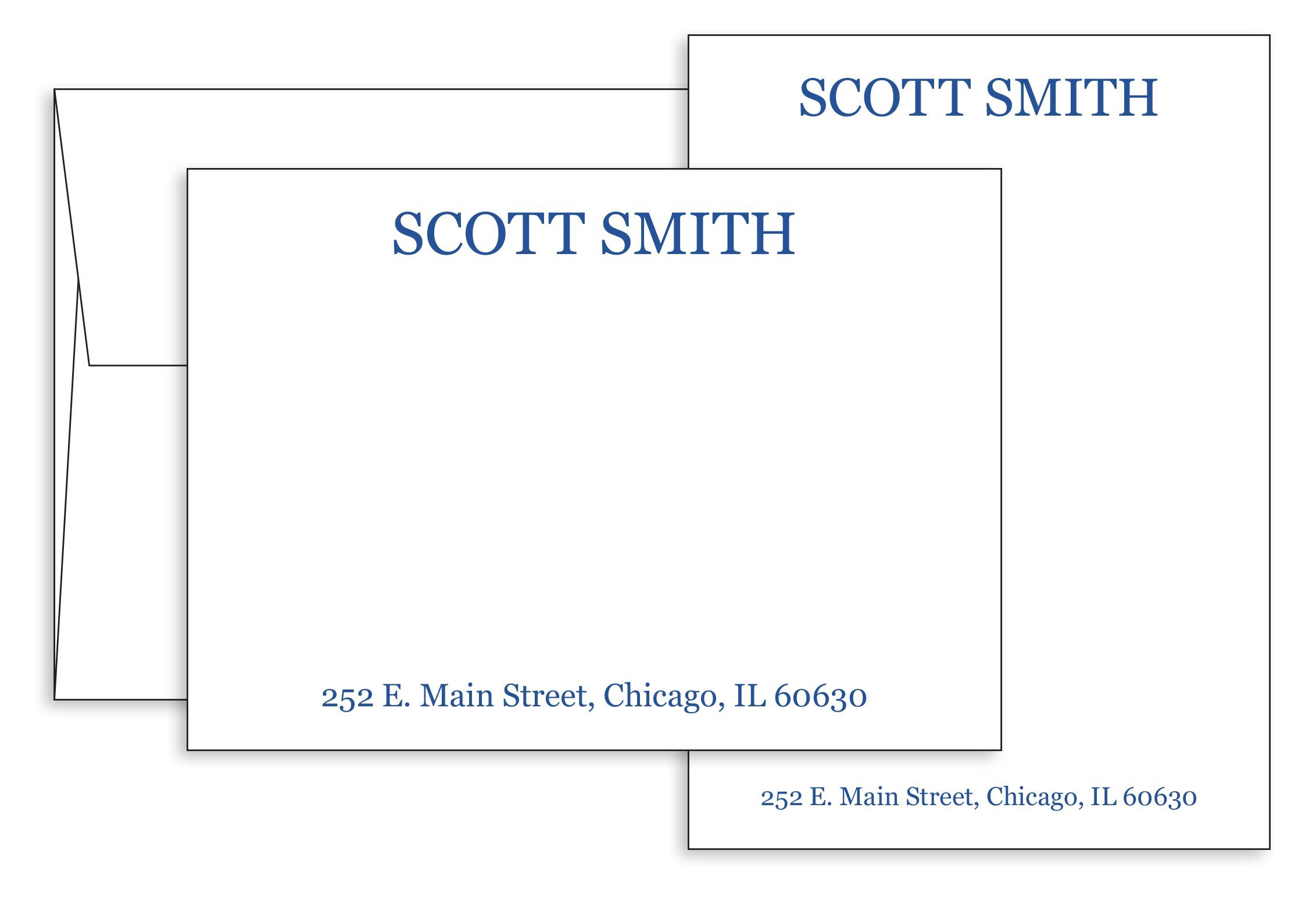 5'' x 7'' Custom Printed Flat Note Cards-100 Thick 120lb (14pt) White Paper & Matching Envelopes-Personalize & Choose Ink Colors. Business, Personal-Thank You Stationery
