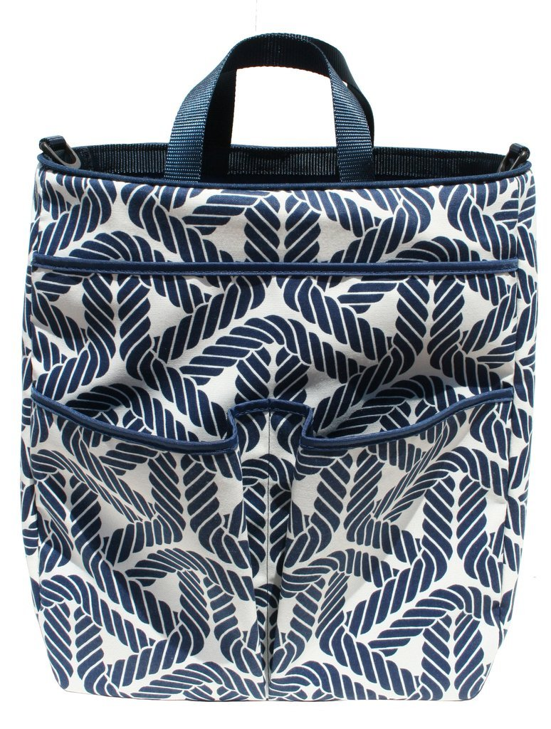 40 Love Courture Sophi Tennis Tote Bag - Ships Ahoy with Navy Lining