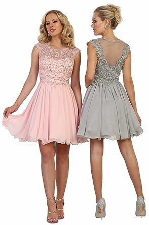 1cfec2e4d9cc Formal Dress Shops Inc FDS1567 Semi Formal Dance Short Dress at ...