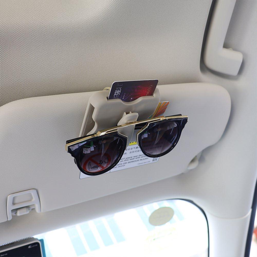 Beige Auto Parkkartenhalter Auto-Styling Sonnenbrillenhalter Hochgeschwindigkeits-IC-Kartenclip Auto Sonnenblende Clip Auto Organizer