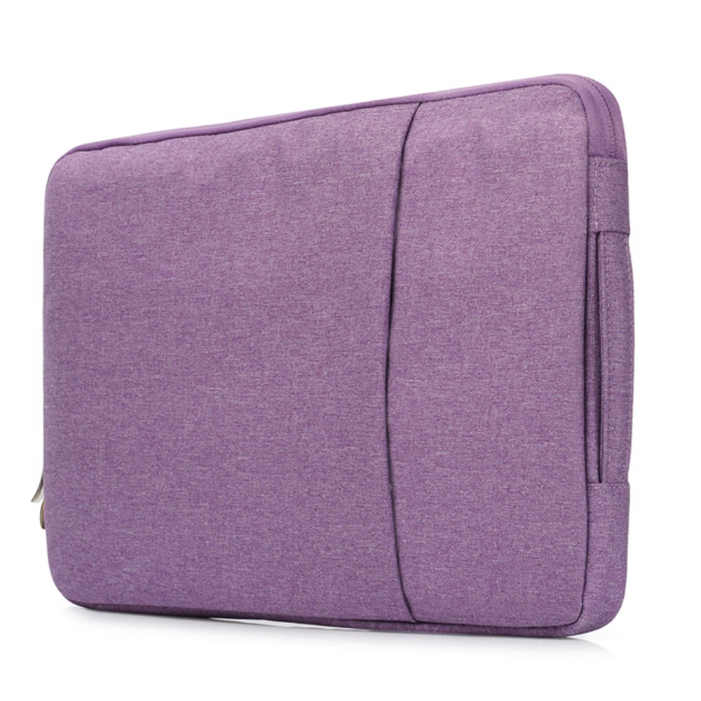 Businda Laptop Sleeve Handbag Polyester Briefcase Carrying Bag for 15 Inch Ultrabook/Notebook/Laptops - Purple