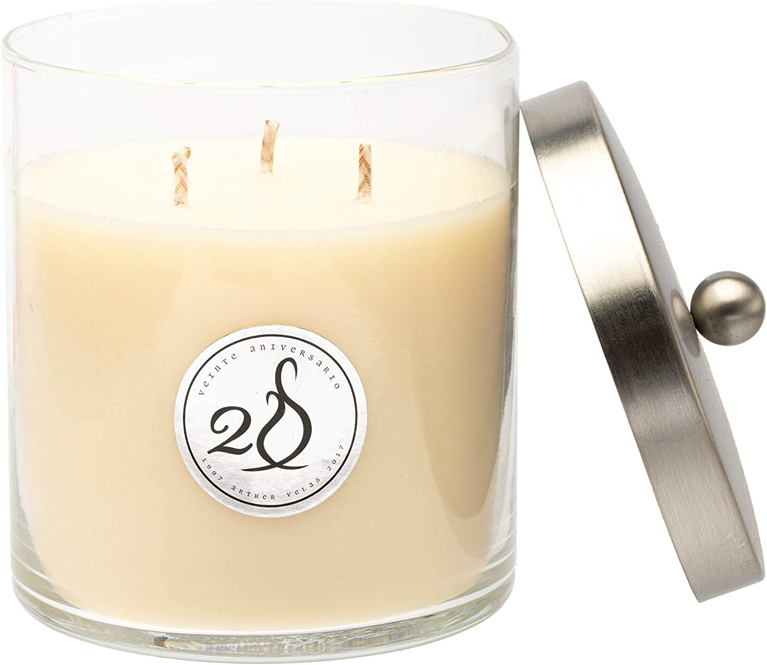 Simply Soson Vanilla Candle | 3 Wick Soy Candles | Healthy Organic Candles | Large Highly Scented Candles | Candles for Home Scented- 14 Oz