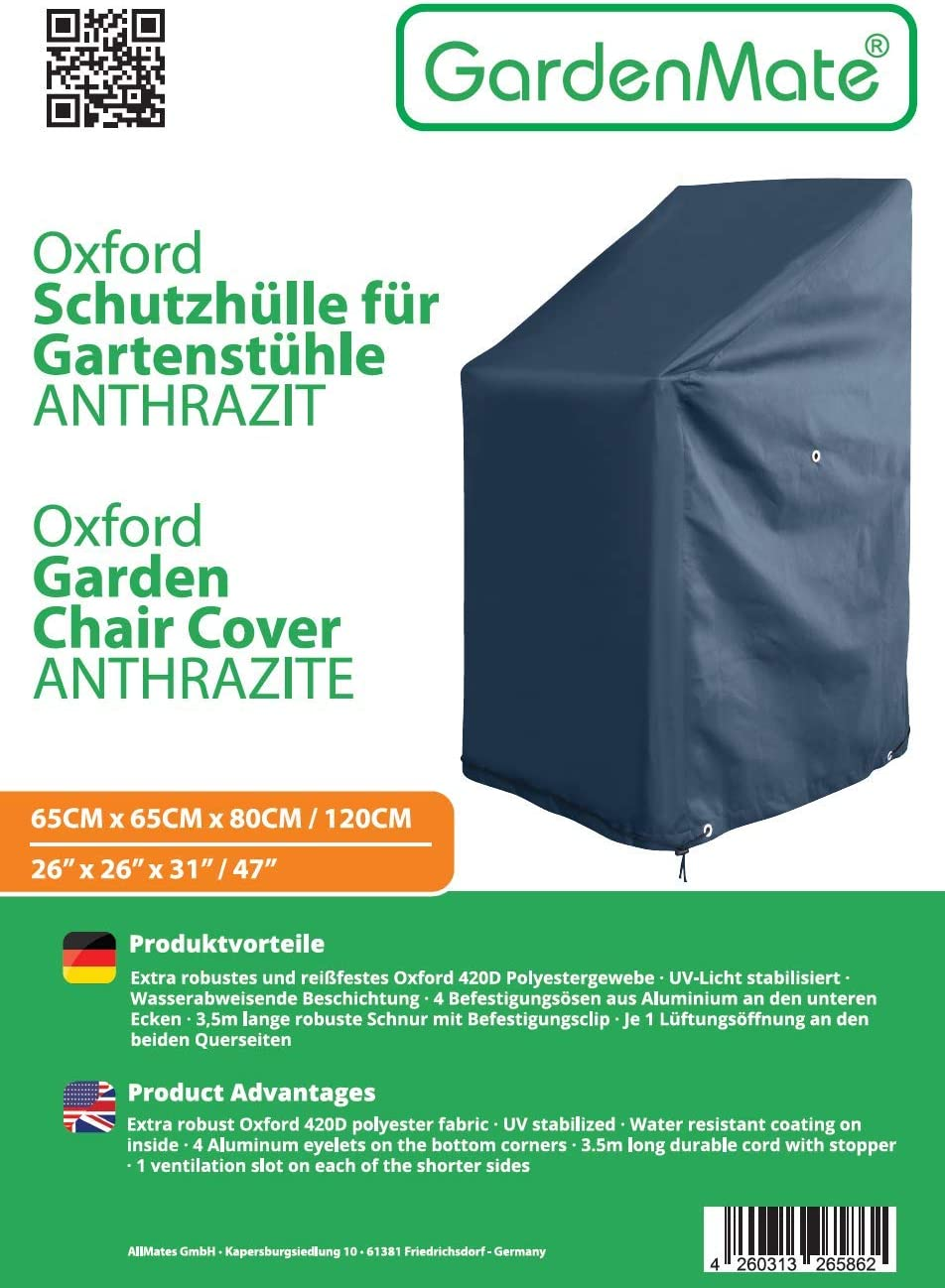 GardenMate Oxford Polyester protective garden chair cover 65 x 65 x 80//120cm premium quality 220GSM Oxford polyester material