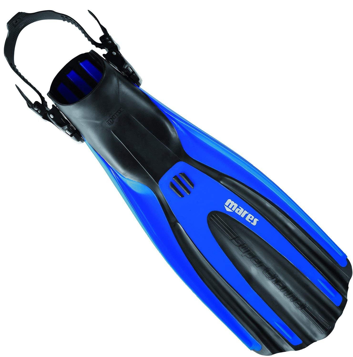 Mares Avanti Superchannel OH Open Heel Scuba Fins-Blue-Small