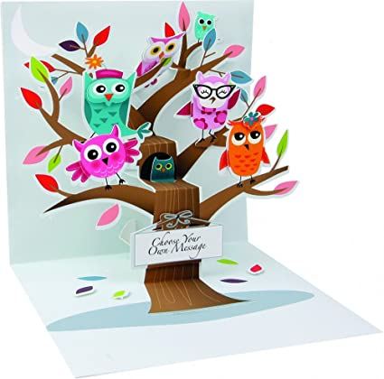 Amazon 3d greeting card owl tree all occasion office 3d greeting card owl tree all occasion m4hsunfo
