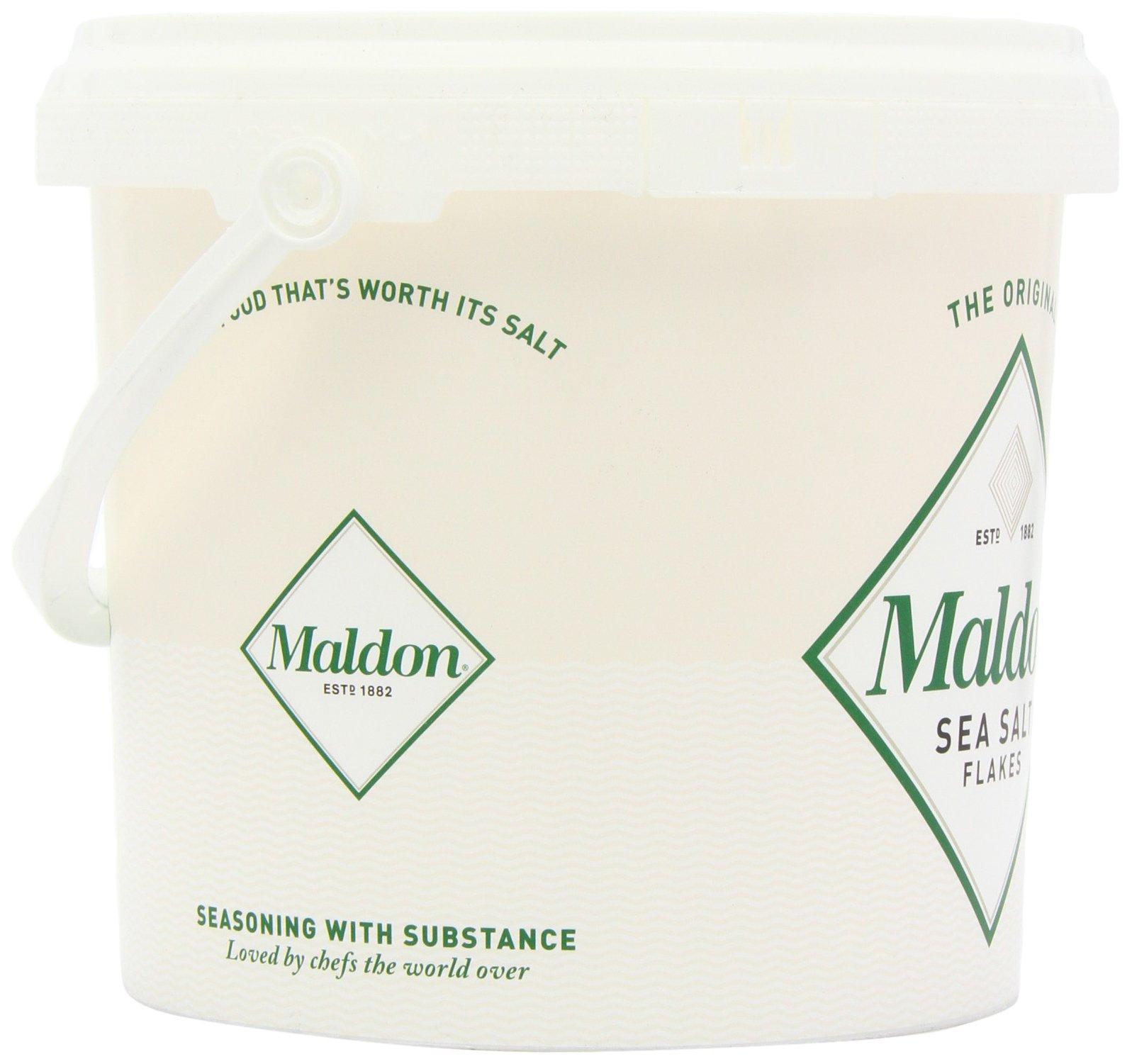 Maldon Sea Salt Flakes 1.5kg/3.3lbs Tub by Salt Traders (Image #6)