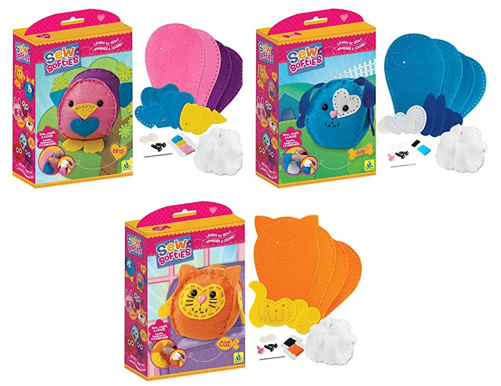 Sew Softie The Orb Factory Favorite Pet Kit, Bird, Cat and Dog
