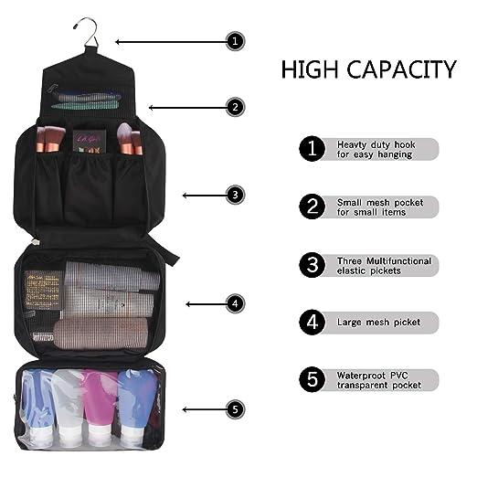 Amazon.com: Bolso de aseo para cosméticos, bolsa de viaje de ...