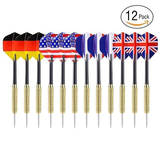 26 opinioni per Ohuhu® 12 Pz Tip Frecce Freccette con Disegno Bandiera Nazionale (4 Stili)-