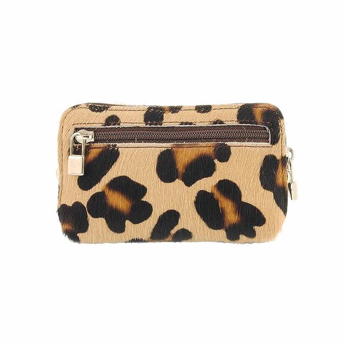 Monedero de piel leopardo: Amazon.es: Ropa y accesorios