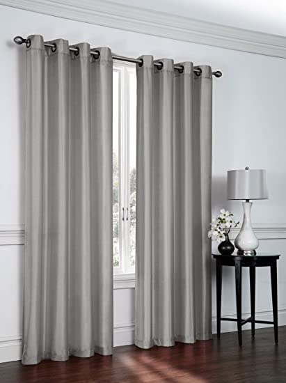 window curtain sizes height jenner solid faux silk grommet window curtain panel all sizes new arival sale 95quot amazoncom