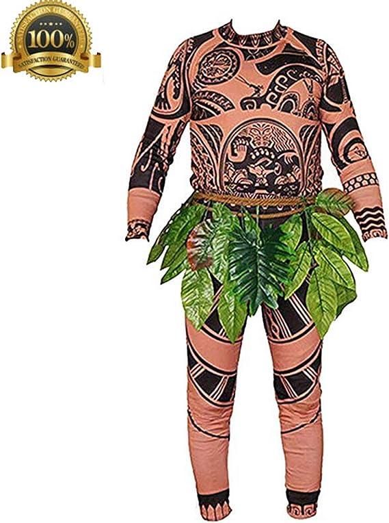 Hombres Adultos Niños Moana Maui Camiseta Pantalones Conjunto con ...