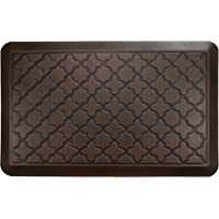 """Butterfly 3/4"""" Non-Slip Kitchen Mat Quatrefoil Anti Fatigue Standing Mat, Ergonomically Engineered, Non-Toxic, Highest Quality Material, Waterproof, 20 x 32 inches, Dark.Antique"""