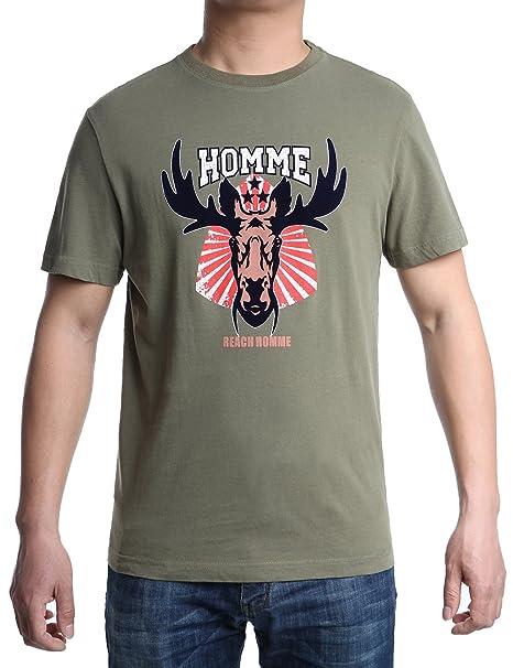 Hombre Camisetas Originales Style Largas Manga Corta Casual Verano Regalo del Día del Padre(L