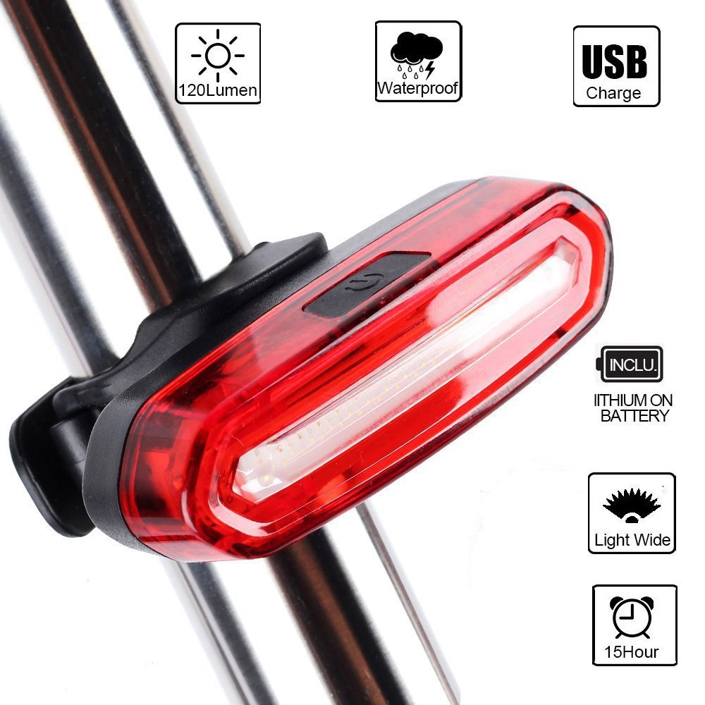 Bike Tail LED Light, Yuanli USB Rechargeable,6 Light Mode  Options,Waterproof IPX 6 Super Bright Helmet Light Accessories Fits for  Cycling Safety