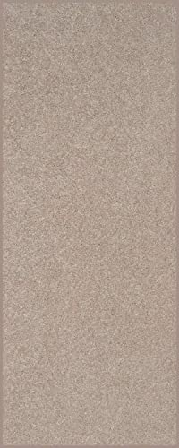 Home Queen Solid Color Custom Size Runner Area Rug Beige, 3 x 16