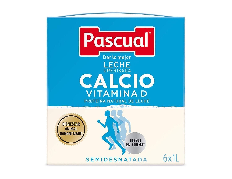Leche Pascual - Calcio Leche Semidesnatada, Calcio natural, pack de 6 unidades - 6l: Amazon.es: Alimentación y bebidas