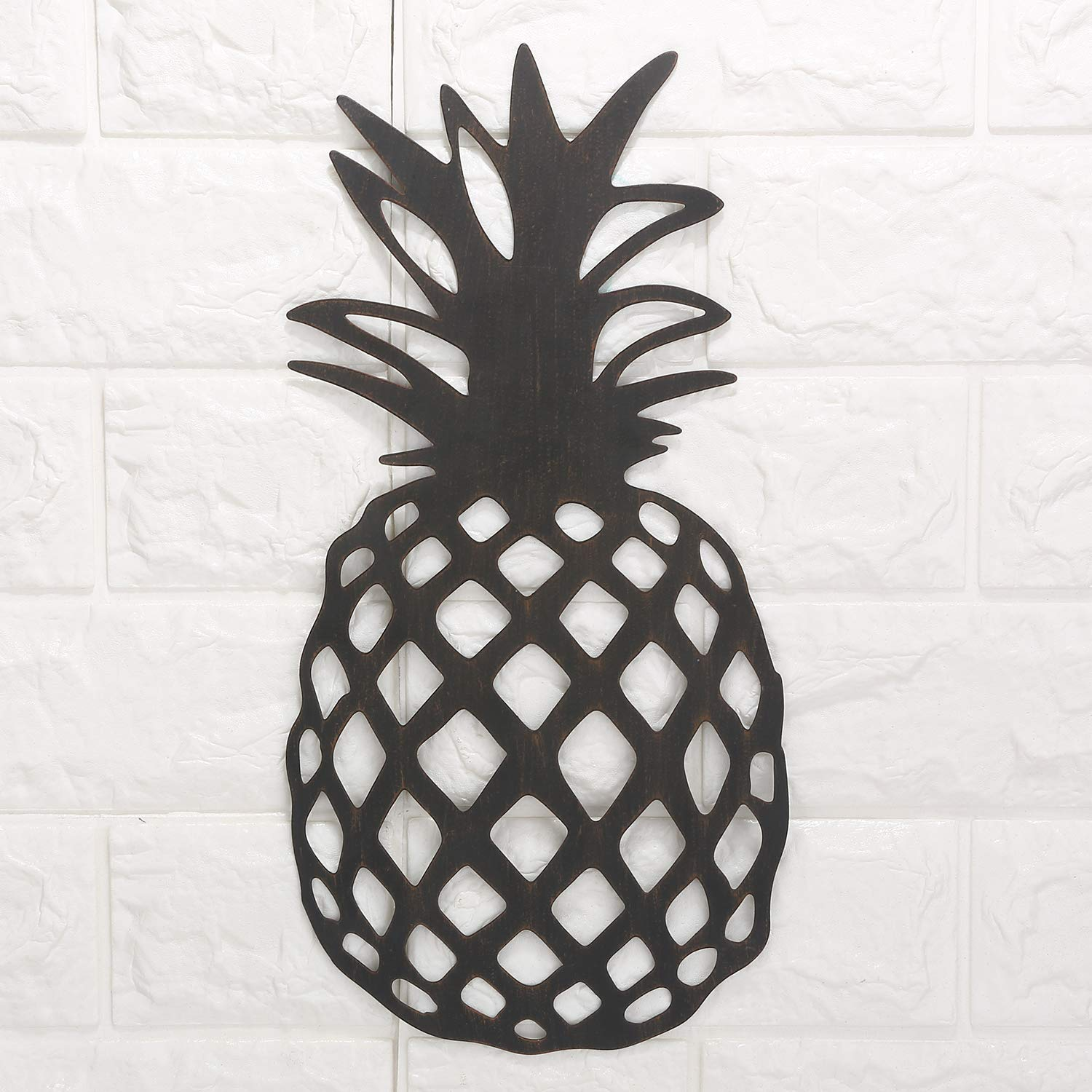 Pineapple Rustic Metal Wall Art Decor-Tropical Wall Sculpture for Kitchen, Bedroom, Living Room by Scwhousi
