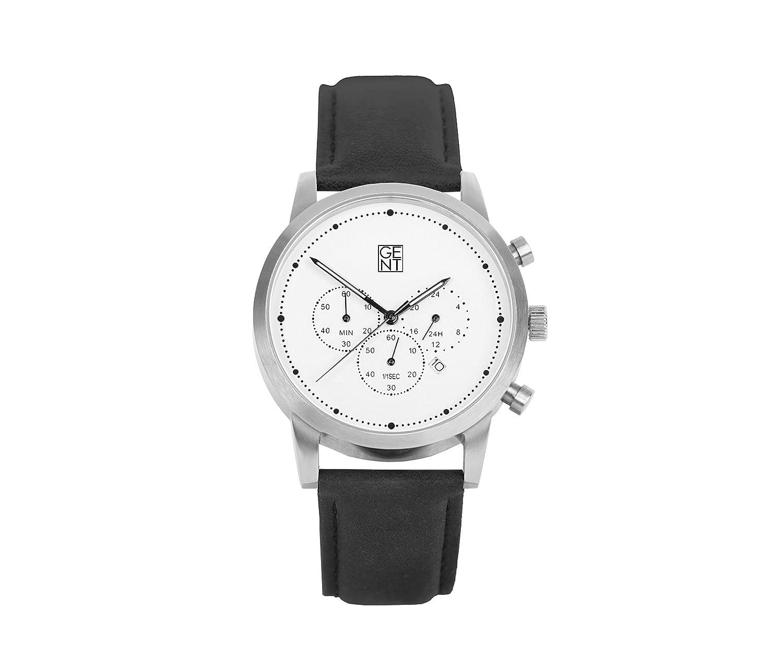 Gent Herren-Armbanduhr Aramis I Chronographer Edelstahl 42 mm Fall Weiß Zifferblatt 22 mm Lug Japanische Citizen Quarz-