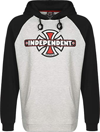Independent Vintage Cross Raglan Black/Athletic Heather Sudadera con Capucha: Amazon.es: Ropa y accesorios