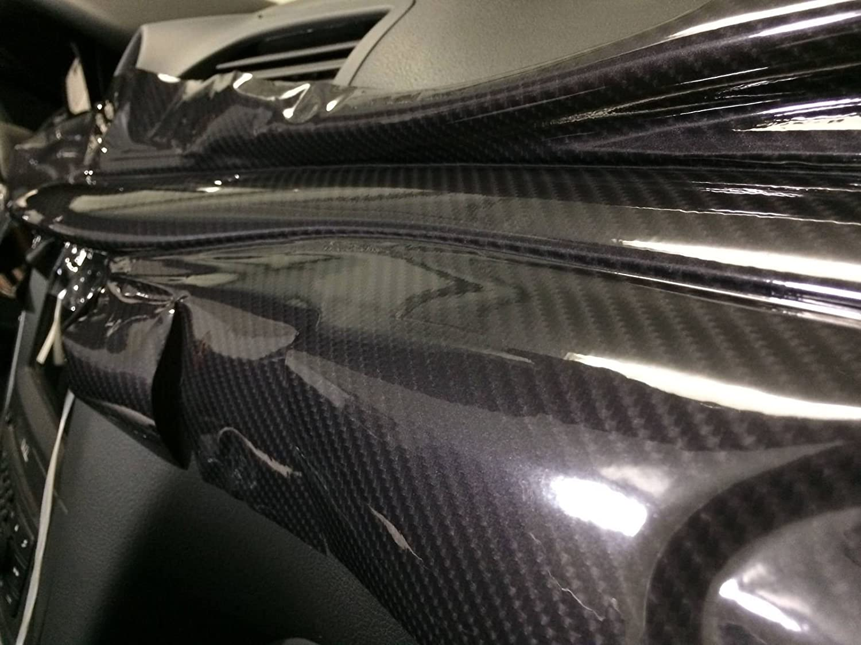 Not Printed Black Carbon Gloss Tech Art 2 Foot x 5 Foot 3 Layer 3D Realistic Carbon Fiber Look Vinyl Car Wrap VViViD XPO