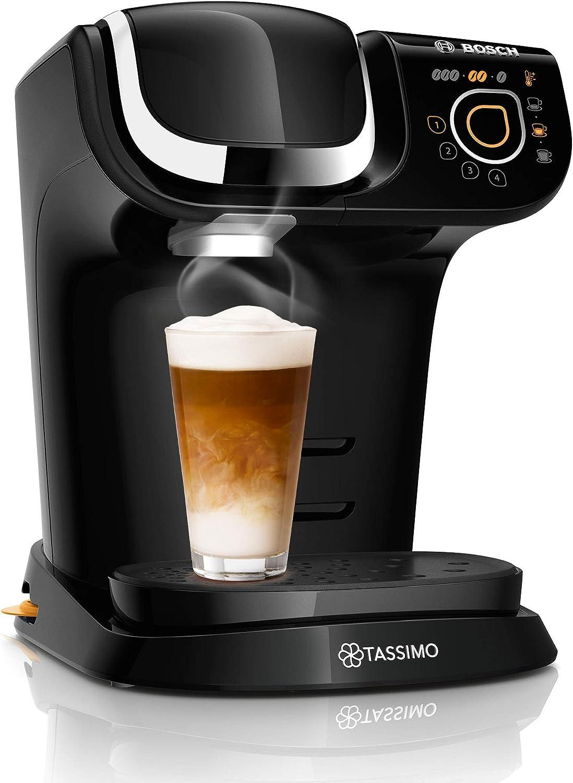 Bosch Tassimo My Way TAS6502, Cafetera de cápsulas, color negro, filtro de agua BRITA, 1500 W