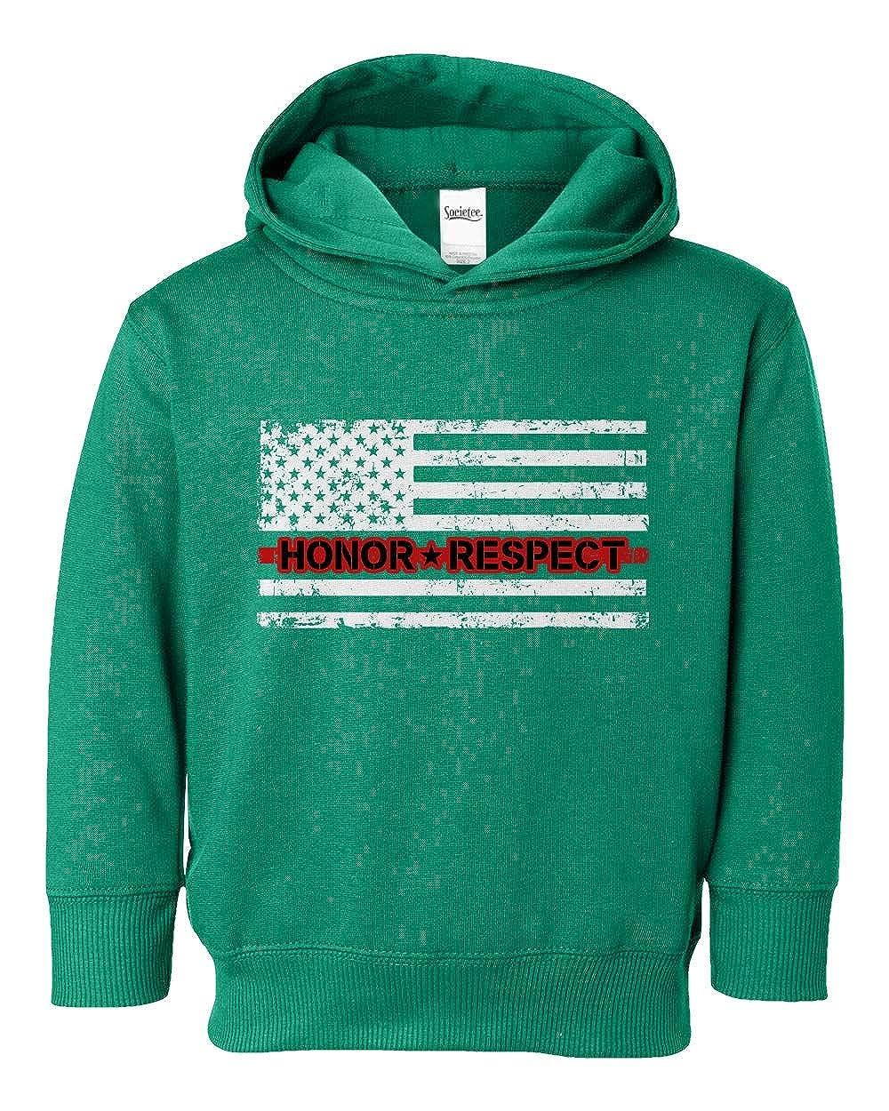 Societee Honor /& Respect Thin Red Line Flag Girls Boys Toddler Hooded Sweatshirt