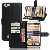 Doogee X7 Pro Case iBetter Doogee X7 Pro Wallet Case Premium PU Leather Wallet Smartphone Case with Stand Function for Doogee X7 Pro (Black)