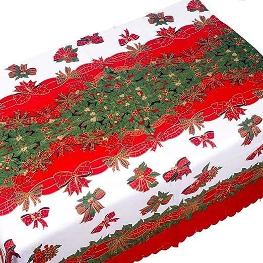 DELLA Mantel De Navidad Poliéster Algodón Funda De Mesa A Prueba De Polvo Navidad Acción De Gracias Cena Mantel Decoración De Fiesta En Casa@Do_150X180: Amazon.es: Amazon.es