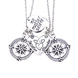 Amazon Price History for:O.RIYA Mother & Daughter No Matter Where Compass Necklaces Set heart , mother daughter necklace set for 2 Half Broken Heart Necklace ,Two Piece Double Necklace Set