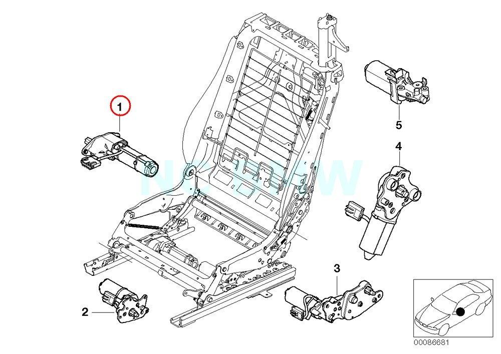 BMW Genuine Longitudinal Seat Adjustment Engine
