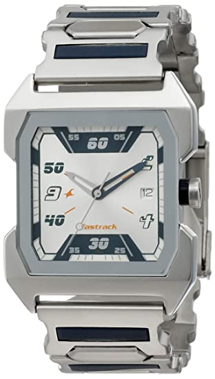 64001cd02a3d0b Buy Fastrack Party Analog Silver Dial Men s Watch -NK1474SM01 Online at Low  Prices in India - Amazon.in
