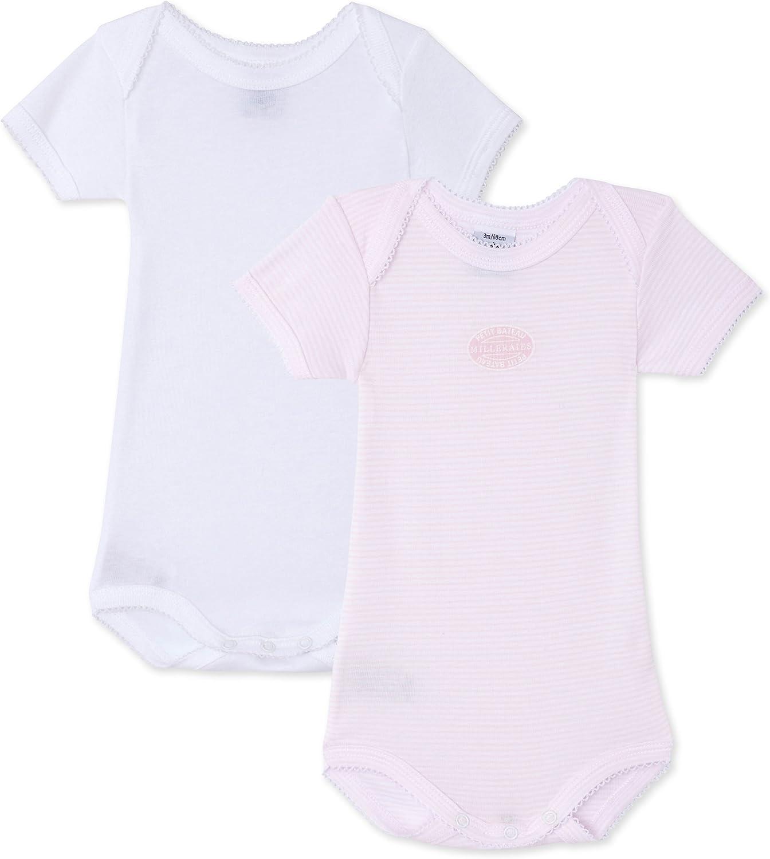 Petit Bateau Unisex Baby 2-pk S//S Bodysuits