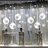 Malloom Noël Mur Du Salon Fenêtre Flocon De Neige Autocollants Chambre