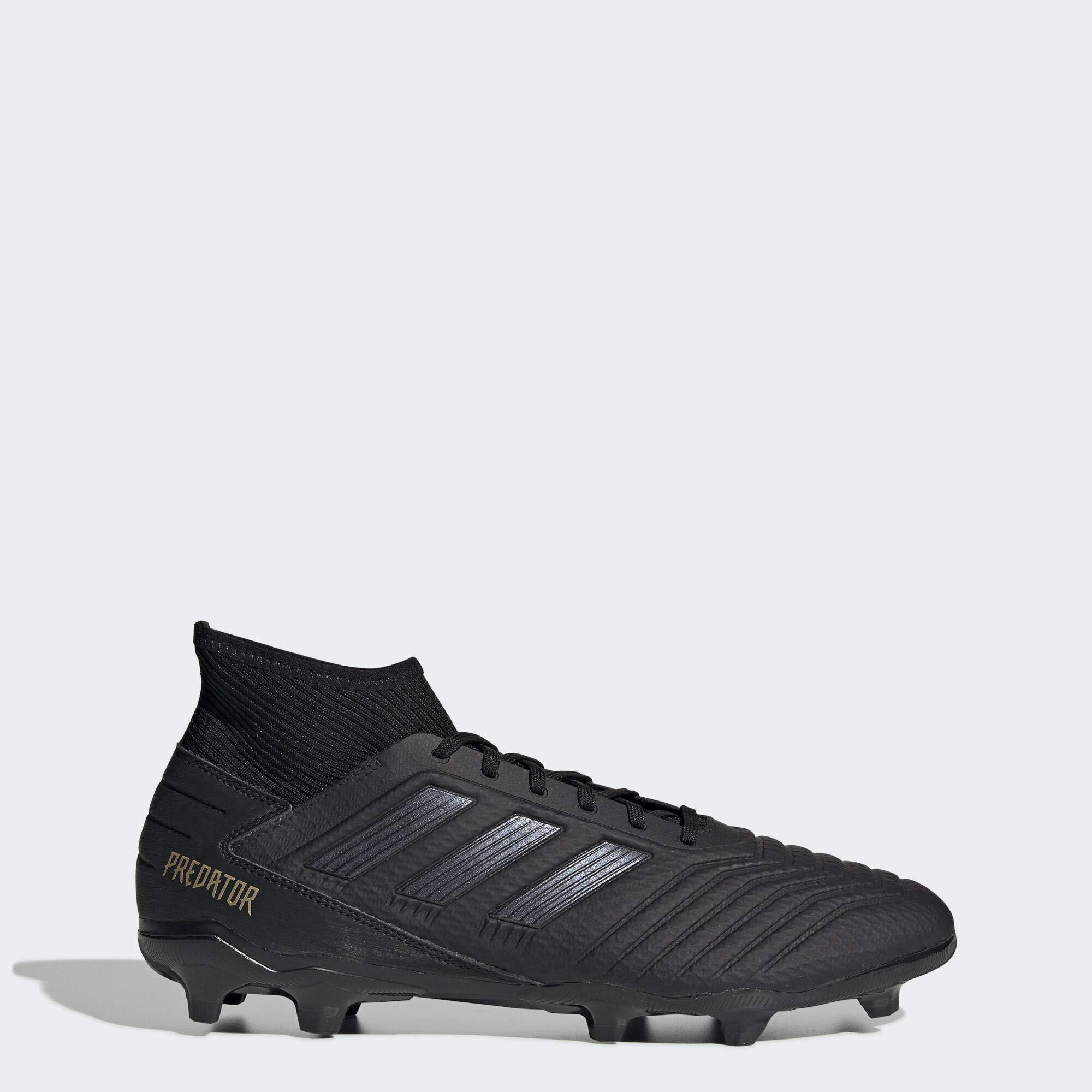 adidas Men's Predator 19.3 Firm Ground Soccer Shoe, Black/Gold Metallic, 9 M US by adidas